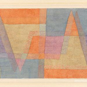 Paul Klee // das licht und die Schärfen, 1935, 102 // Aquarell und Bleistift auf Papier auf Karton, 32 x 48 cm // Obj.Id 977