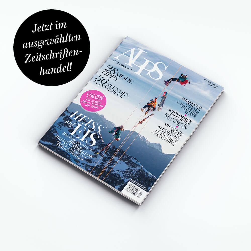 Lassen Sie sich in die Welt der Berge entführen. Auf 120 Seiten bietet unser Magazin eine einzigartige Themenmischung rund um die Alpen.