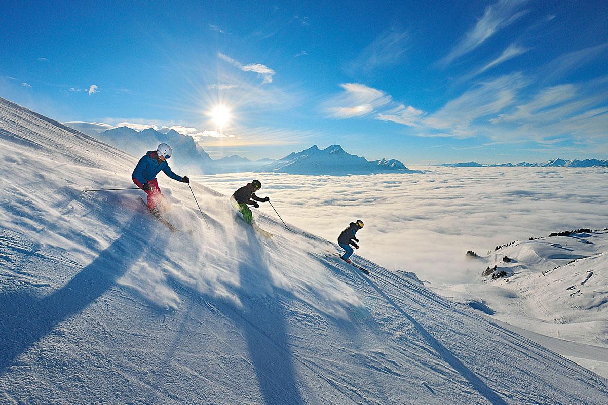 Die Sunshine-Piste am Hasliberg im Berner Oberland – eine der sonnigsten Pisten der Schweiz