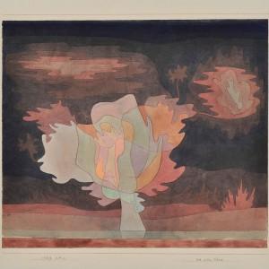 Paul Klee // vor dem Schnee, 1929, 319 // Aquarell und Feder auf Papier auf Karton, 33,5 x 39 cm // Leihgabe aus Privatbesitz // Obj.Id 6990 // Zentrum Paul Klee, Bern