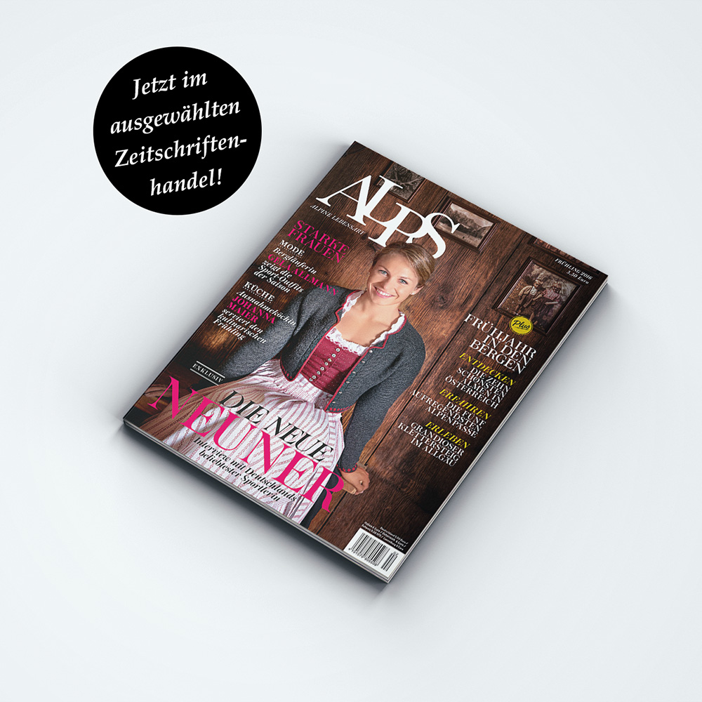 ALPS #29 // Frühling 2016. Lassen Sie sich in die Welt der Berge entführen. Auf 120 Seiten bietet unser Magazin eine einzigartige Themenmischung rund um die Alpen.