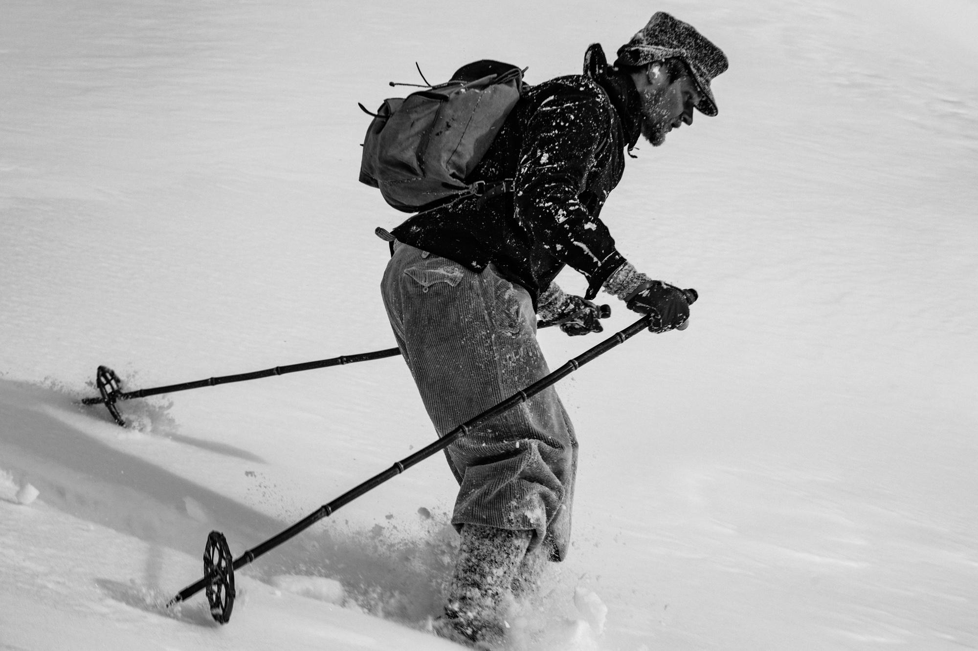 Zitat: Heini Holzer (1945–1977), Südtiroler Alpinist, Extremski- und Steilwandfahrer der Siebzigerjahre, der beim Versuch, die Nordostwand des Piz Roseg in der Berninagruppe zu befahren, ums Leben kam. © Foto: Franz Walter