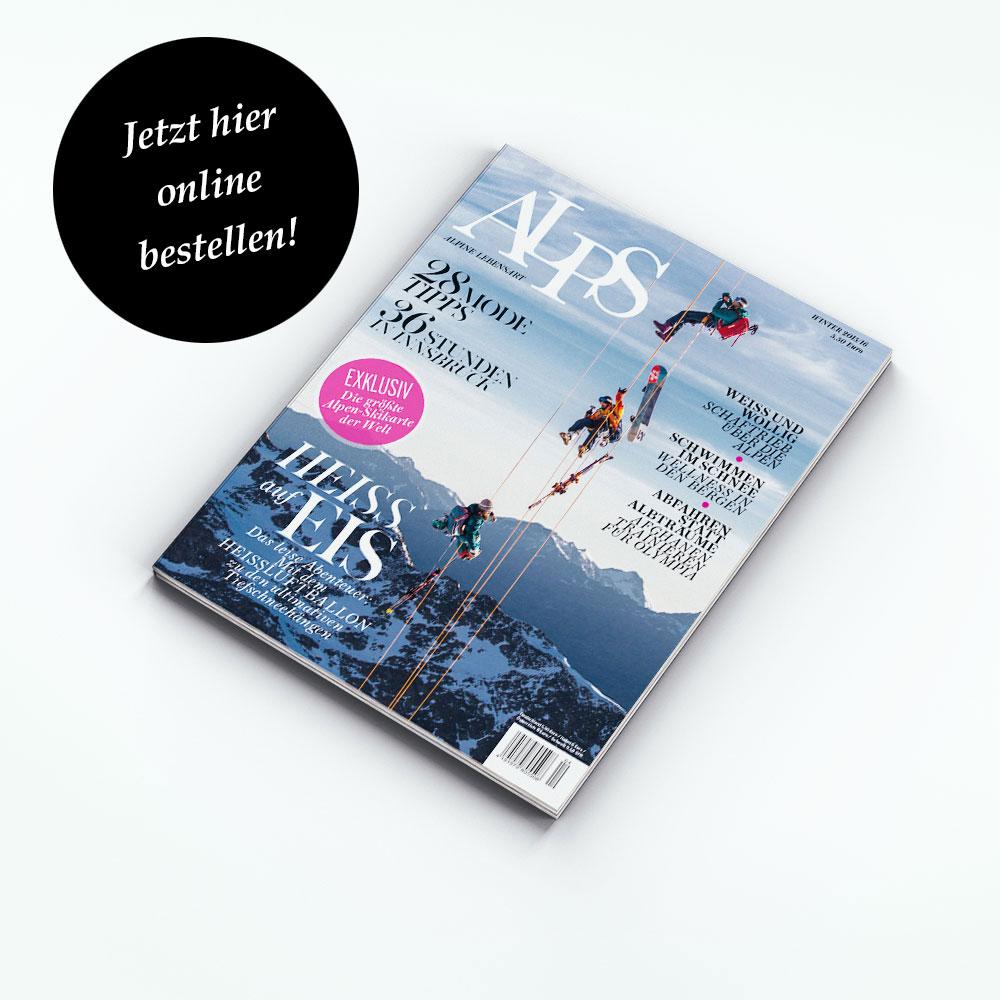 ALPS #28 // Winter 2015/ 2016. Lassen Sie sich in die Welt der Berge entführen. Auf 120 Seiten bietet unser Magazin eine einzigartige Themenmischung rund um die Alpen.