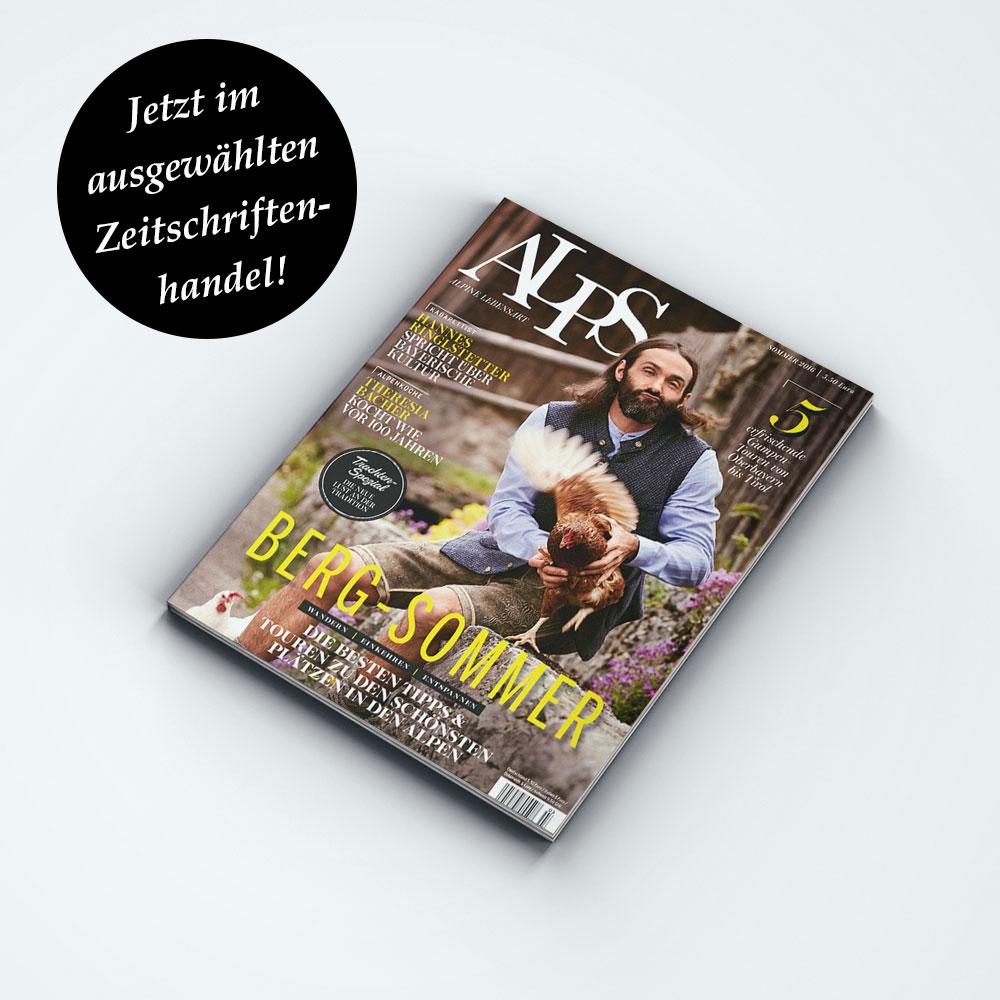 ALPS #30 // Sommer 2016. Lassen Sie sich in die Welt der Berge entführen. Auf 120 Seiten bietet unser Magazin eine einzigartige Themenmischung rund um die Alpen.