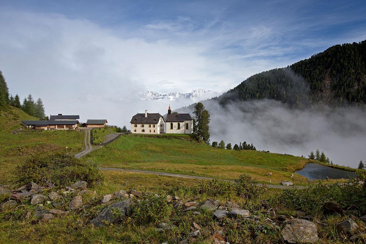 Almen in Österreich Stamser Alm. Wo Mönche Ferien machen, ist der Himmel nicht weit