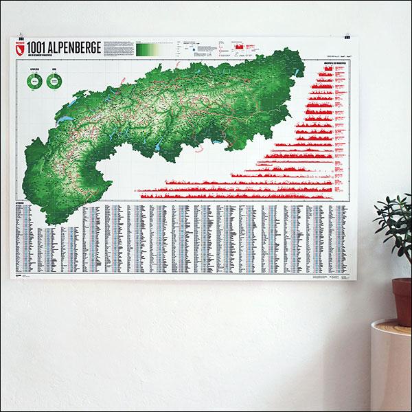 Marmota Maps 1001 Alpenberge und 20 Wanderwege auf einer Karte