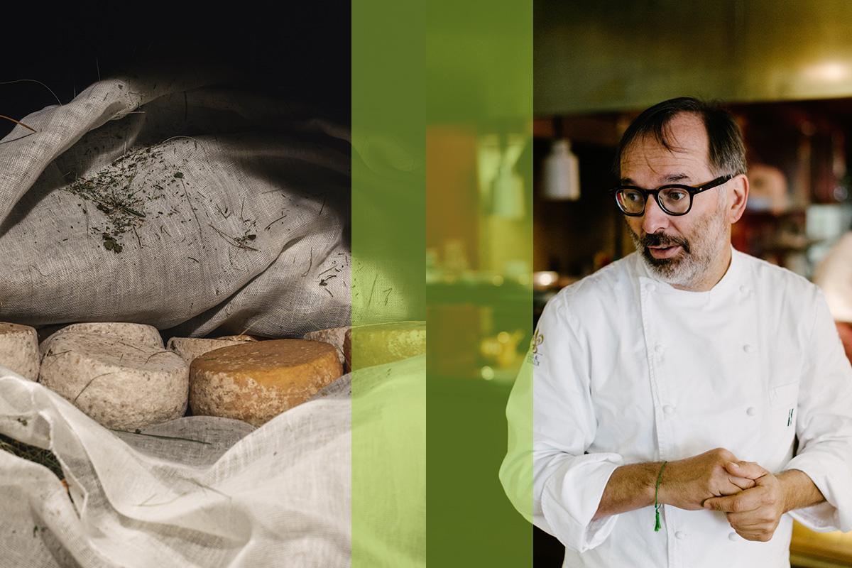 Norbert Niederkofler lässt sich von kleinen und Kleinstherstellern beliefern – der Käse etwa stammt oft von Sennereien, die direkt auf der Alm produzieren