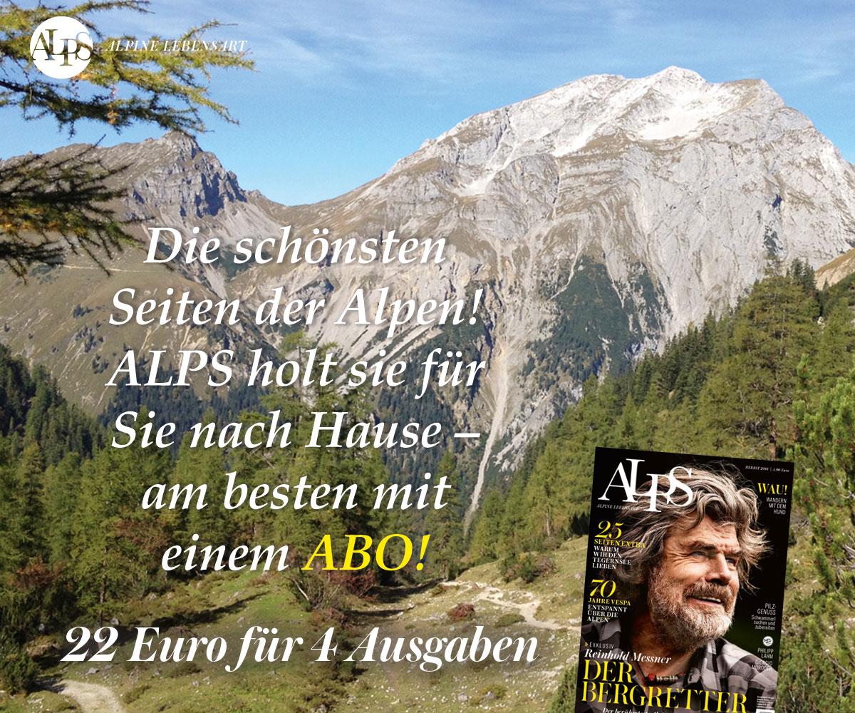 ALPS Abo Herbst. Die schönsten Seiten der Alpen