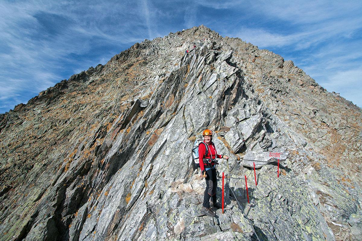 Klettersteig Gloedis/Südostgrat-Klettersteig.