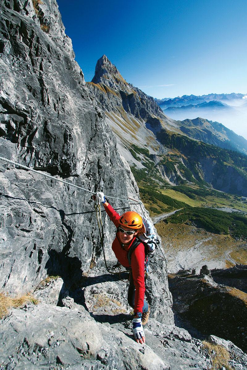 Klettersteig-Tourentipp Saula. Prachtwetter auf prächtigem Klettersteig