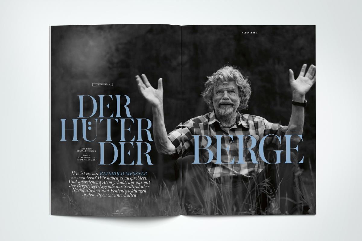 ALPS #31 // Herbst 2016. Porträt. Gehen mit Reinhold Messner. Und Reden über Nachhaltigkeit und Fehlentwicklungen in den Bergen