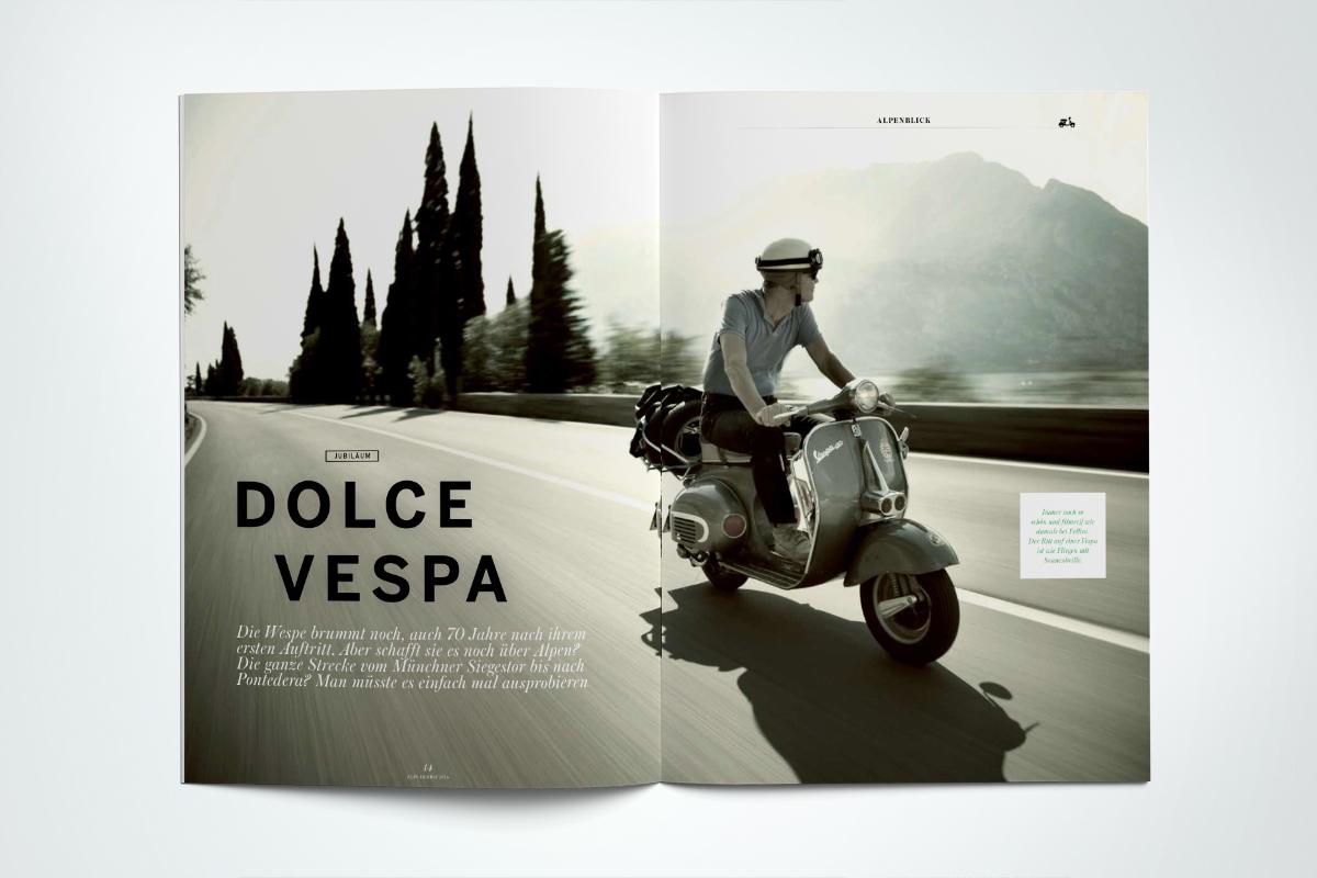 ALPS #31 // Herbst 2016. Jubiläumsfahrt Die Vespa wird 70 Jahre alt. Wollen wir doch mal sehen, ob sie es immer noch über die Alpen schafft