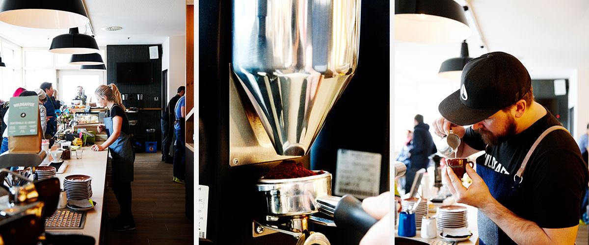 Wildkaffee – Der Bergröster. Guter Kaffee ist nicht schnell gemacht: In Hardi Wilds Laden wird jede Tasse Kaffee feierlich zubereitet