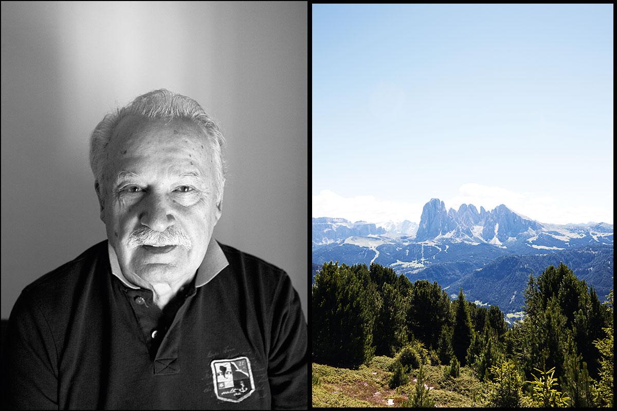 """Giorgio Moroder. Südtiroler, DJ, Weltstar. Und ein Markenzeichen: """"Wenn ich mich irgendwann zurückziehe, werde ich den Schnurrbart abschneiden. Wobei – vielleicht höre ich auch erst auf, wenn der nicht mehr wächst."""" Das gibt es nicht in LA: """"Wenn man auf den Berg geht, dann hört man bestimmte Sounds, Geräusche, die eigentlich interessant wären"""""""