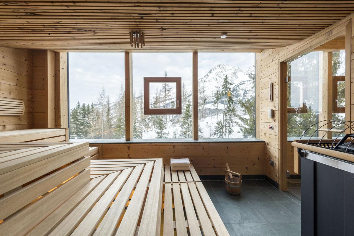 Aufguss mit Ausblick – die schönsten Saunen im Winter.