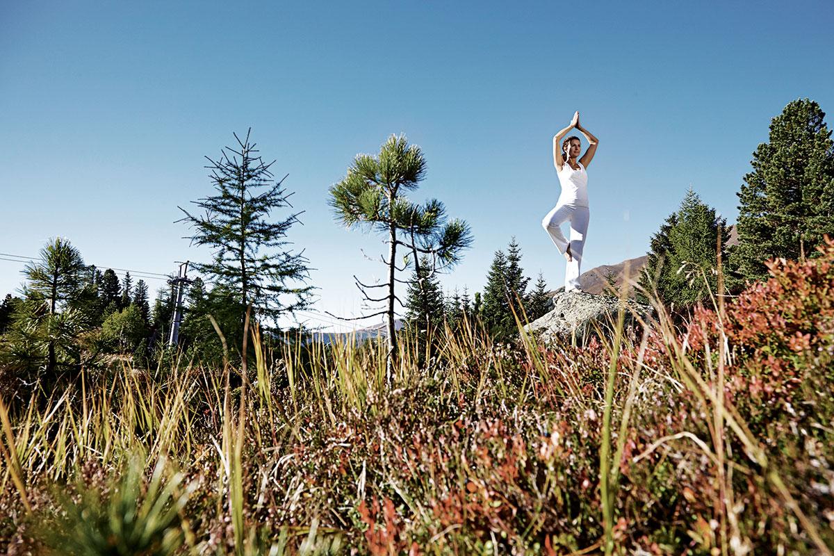 Yoga – Lotus in den Alpen. Hotel Hochschober