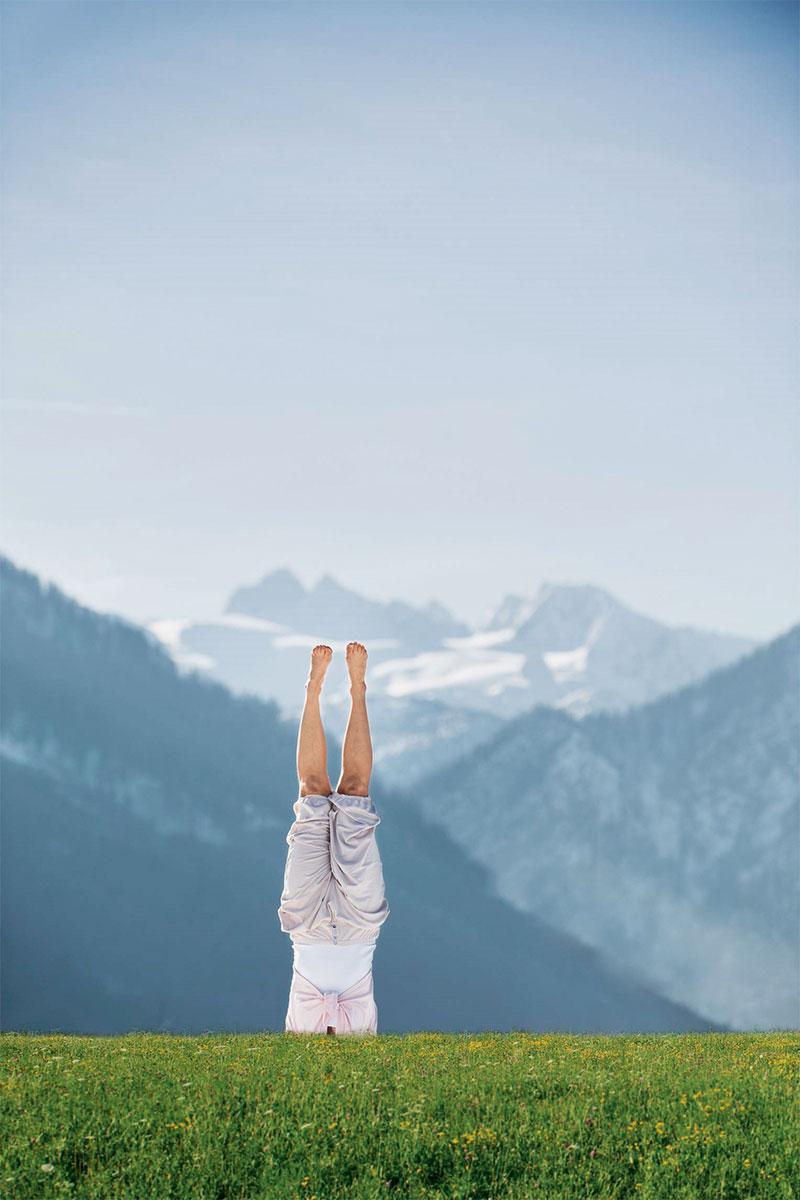 Yoga – Lotus in den Alpen. Die Wasnerin