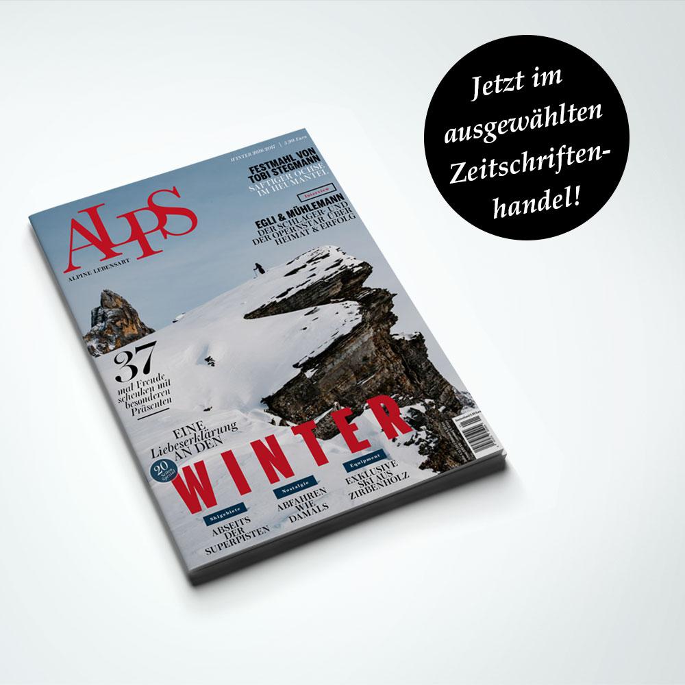 ALPS #32. Winter 2016/20017. Cover Die schönsten Seiten der Alpen