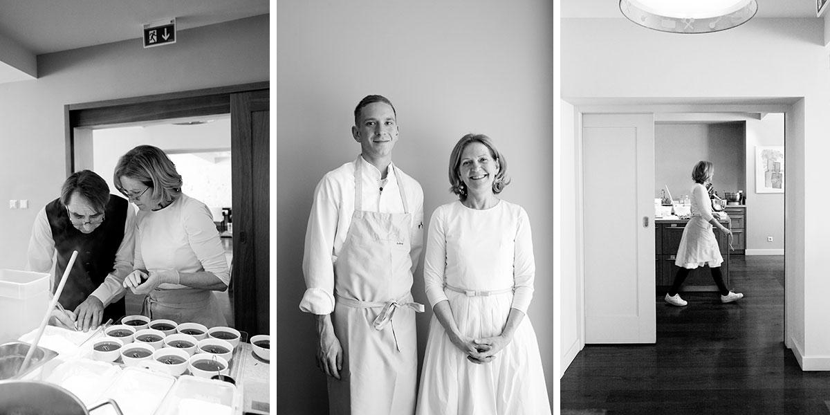 """Johanna Maier – Kochen für die Seele. So geht's weiter: Johannas Sohn Johannes (mittleres Foto) ist wie sein älterer Bruder ebenfalls Koch. Er soll das """"Hubertus"""" weiterführen. Der nächste Schritt: Mit fast 65 Jahren will sich Johanna nun auf ihre Kochschule konzentrieren"""
