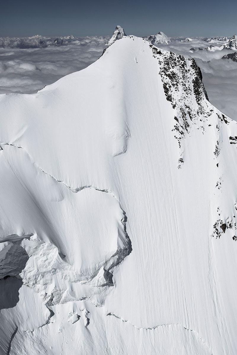J beim Steilwandskifahren. La Liste