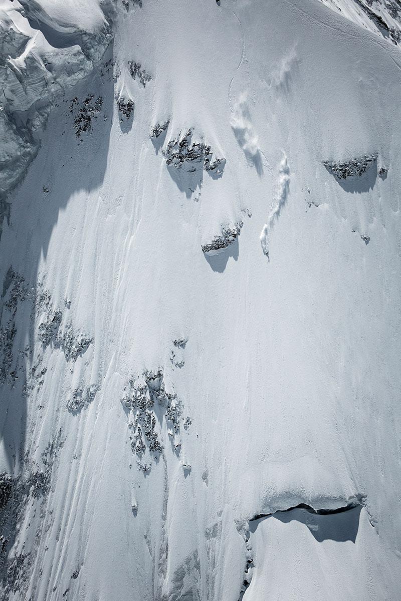 beim Steilwandskifahren. La Liste