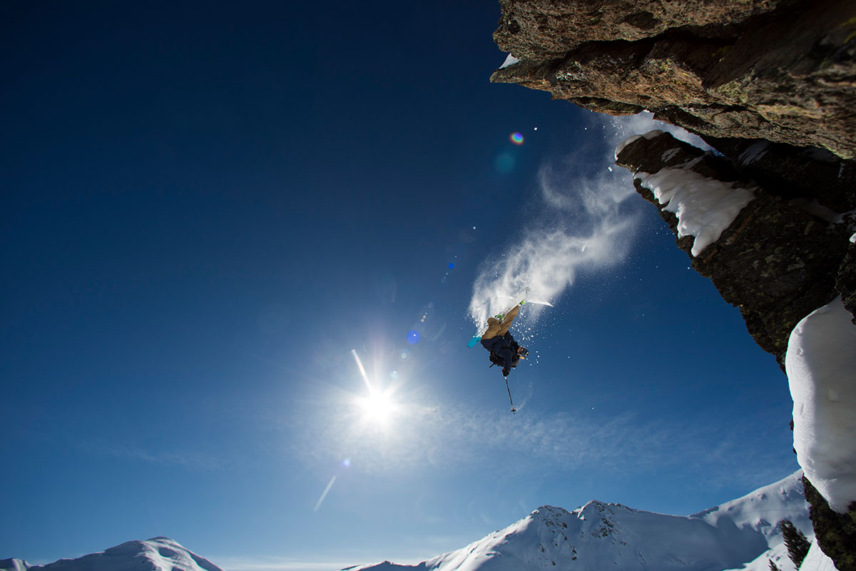 "Freeskier Markus Eder in ""My Playground""."
