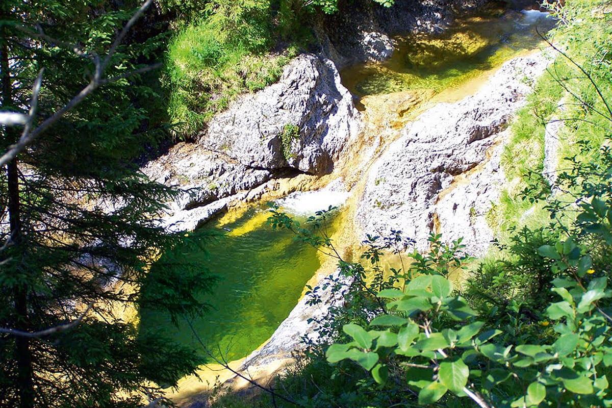 Schronbach Wasserfall. Die fünf schönsten Gumpen der Alpen zum Abtauchen