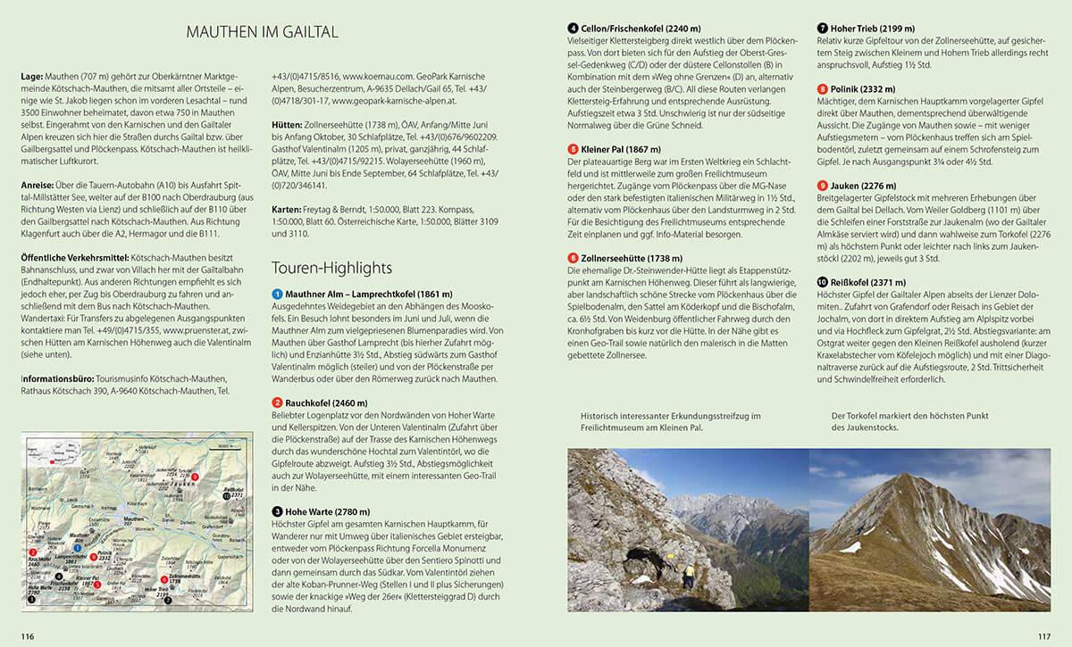 Bergsteigerdörfer – wo die Alpen noch ursprünglich sind. Karte