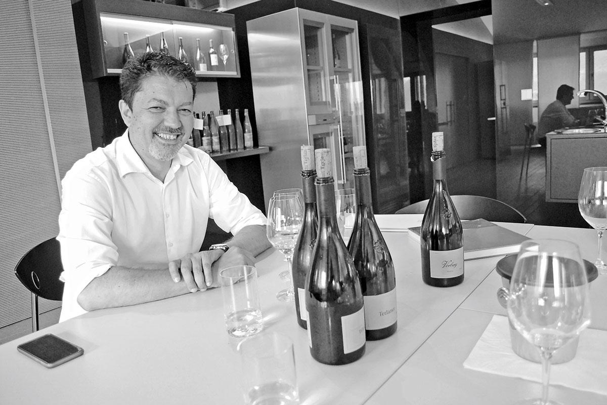 Cantina Terlan – Genossen, schafft. Marketingchef Klaus Gasser bei der Degustation mit ALPS