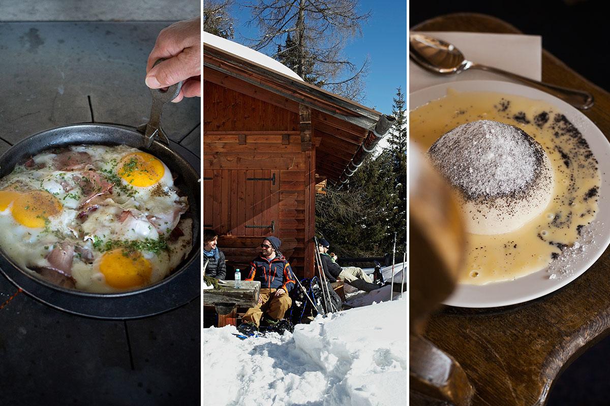 Winterwandern – Wo der Hüttenwirt wartet. Die Stärkung in einer urigen Hütte gehört unbedingt dazu – am liebsten mit Klassikern wie Gröstl, Germknödel oder Kaiserschmarrn