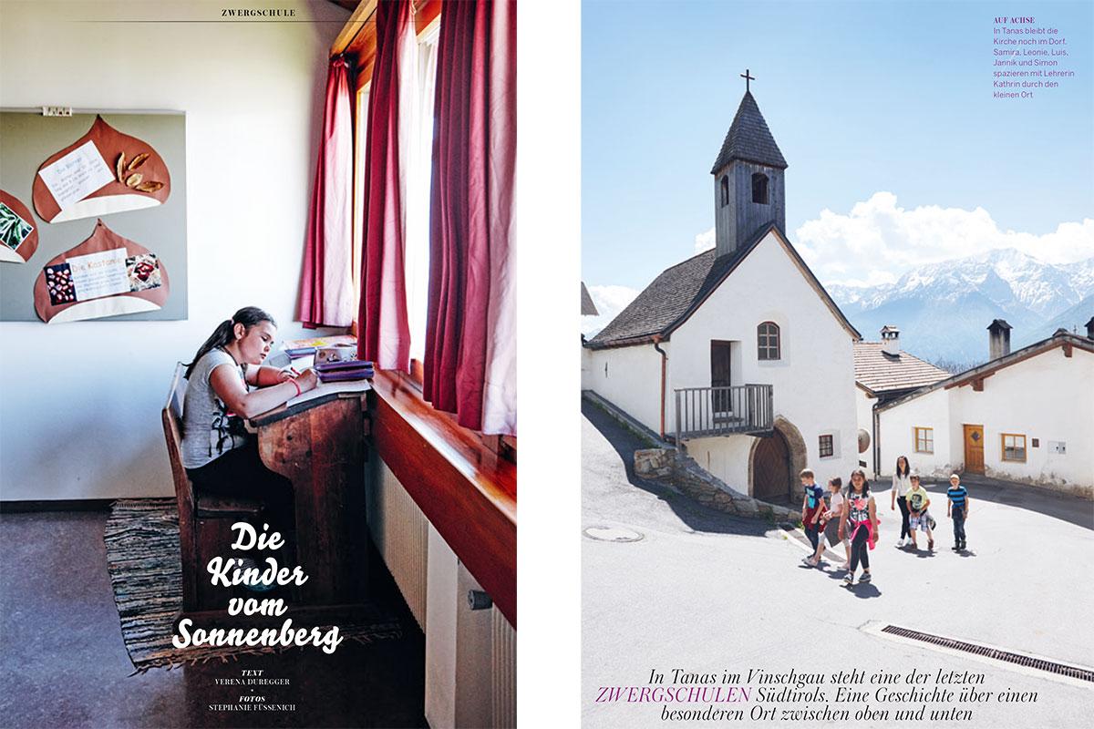 Südtirol Zwergschule Tanas Vinschgau