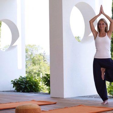 Achtsames Ausbalancieren. Zwei Yoga-Seminare im Fünfsterne-Hotel Giardino Marling