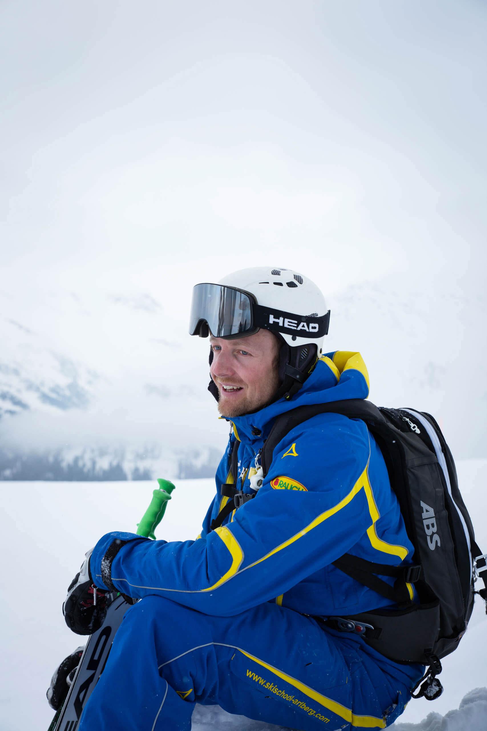 Vier Tiroler und ihre Berufe im Winter
