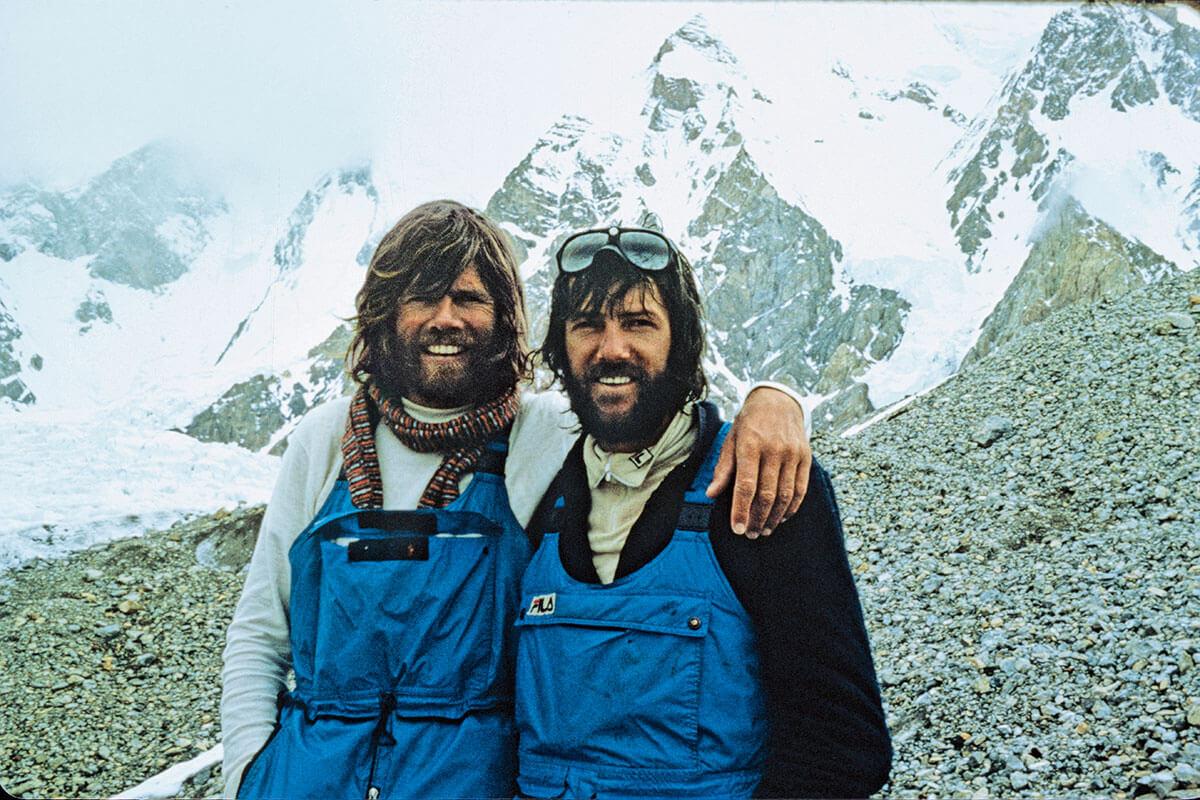 Egal ob Freund- oder Seilschaft: Kammerlander auf einer der vielen Touren mit Reinhold Messner