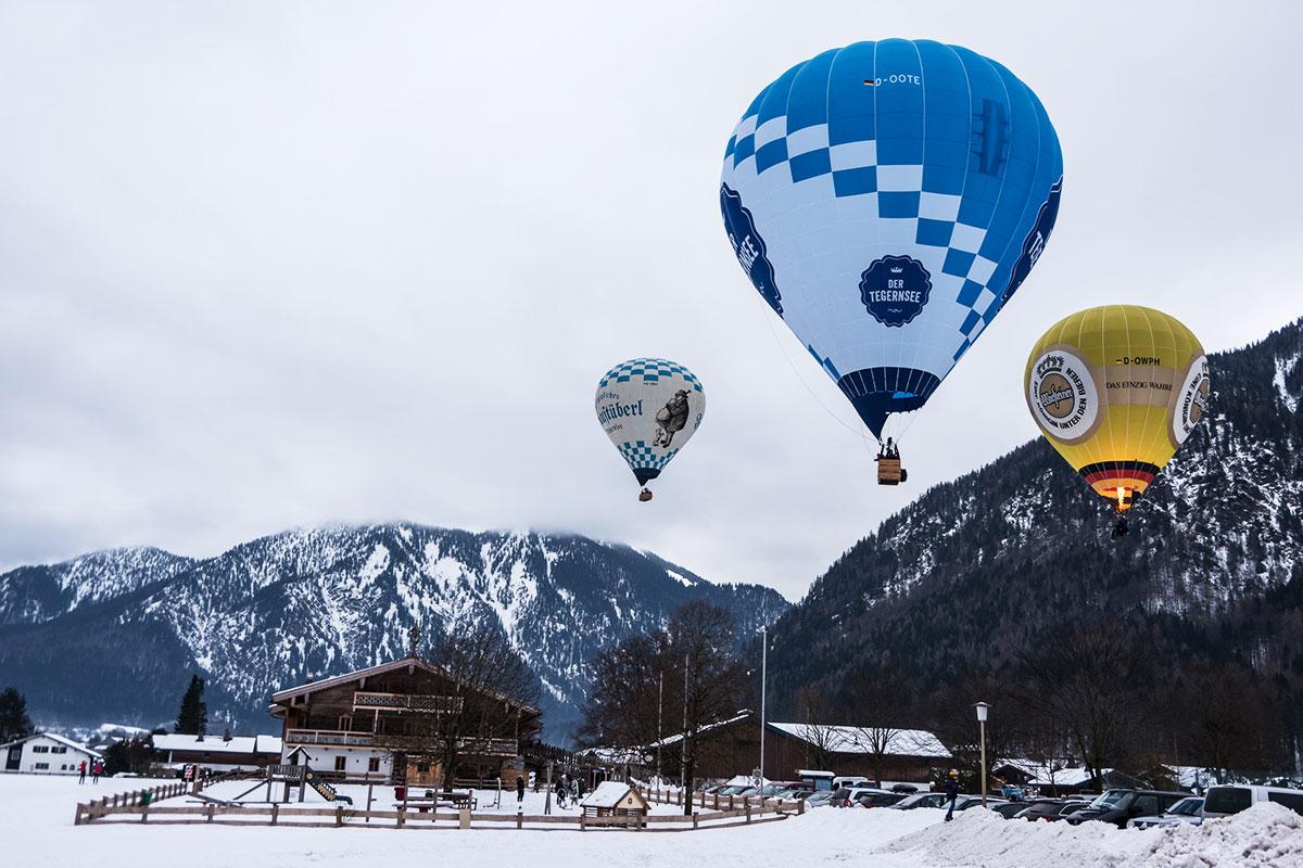 Wenn die Ballone wieder glühen. 19. Tegernseer Tal Montgolfiade