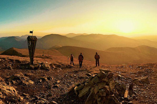 Ein wunderschöner Sonnenaufgang in den Nockbergen. Nockberge Osttirol Falkert