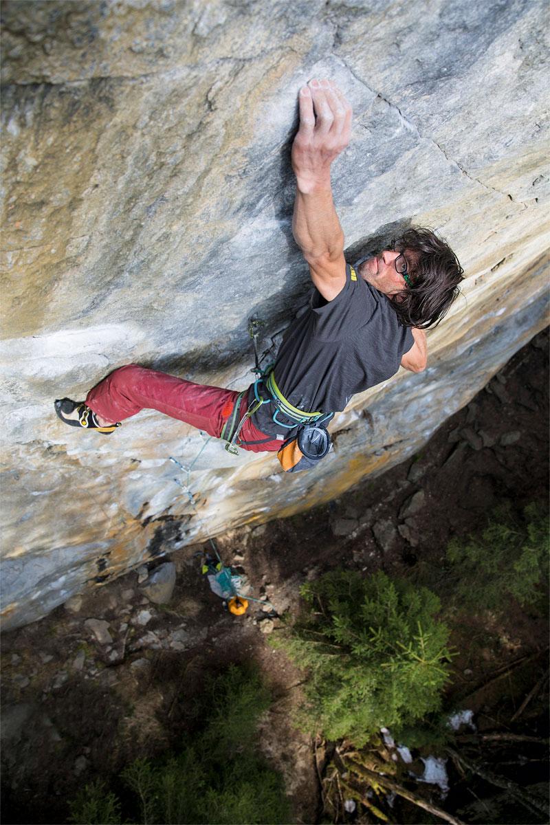 Profi: Hansjörg Auer gehört zu den besten Kletterern der Welt