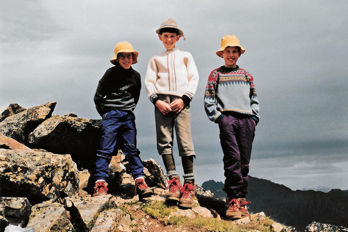 Frühstarter: Mit sechs steht Hansjörg Auer auf seinem ersten Dreitausender. Immer an seiner Seite: seine Brüder