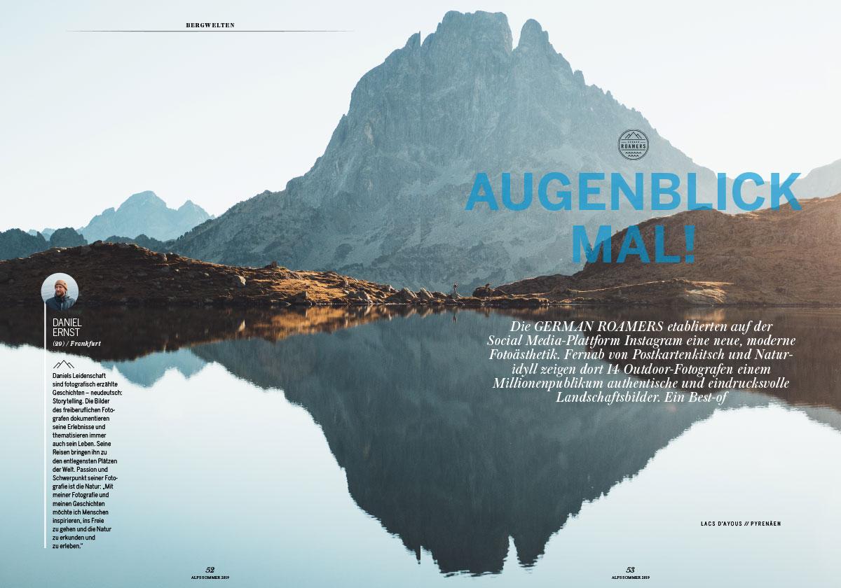 ALPS #42 / Sommer 2019 / Wilde Heimat – fünf Outdoor-Fotografen des Kollektivs German Roamers und ihre traumhaften Bergwelten