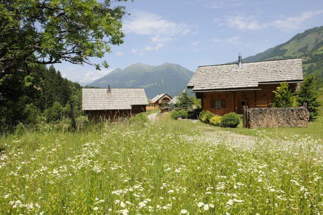 Das Alm-Chalet Dorf ist direkt am großen Landgut mit Bauernhof angeschlossen.