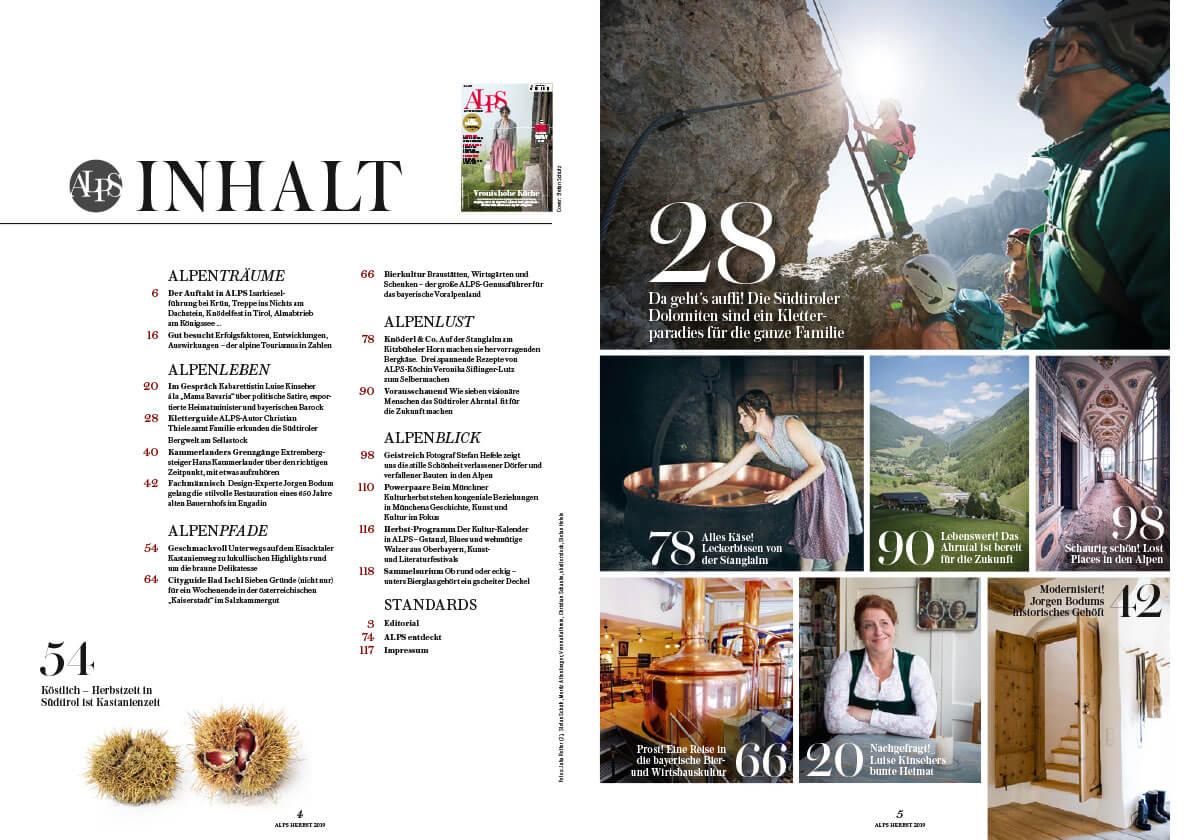 Alps Magazin #43 Inhalt