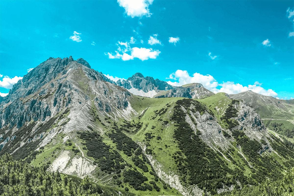 Innsbrucktrek Panorama Axamer Lizum