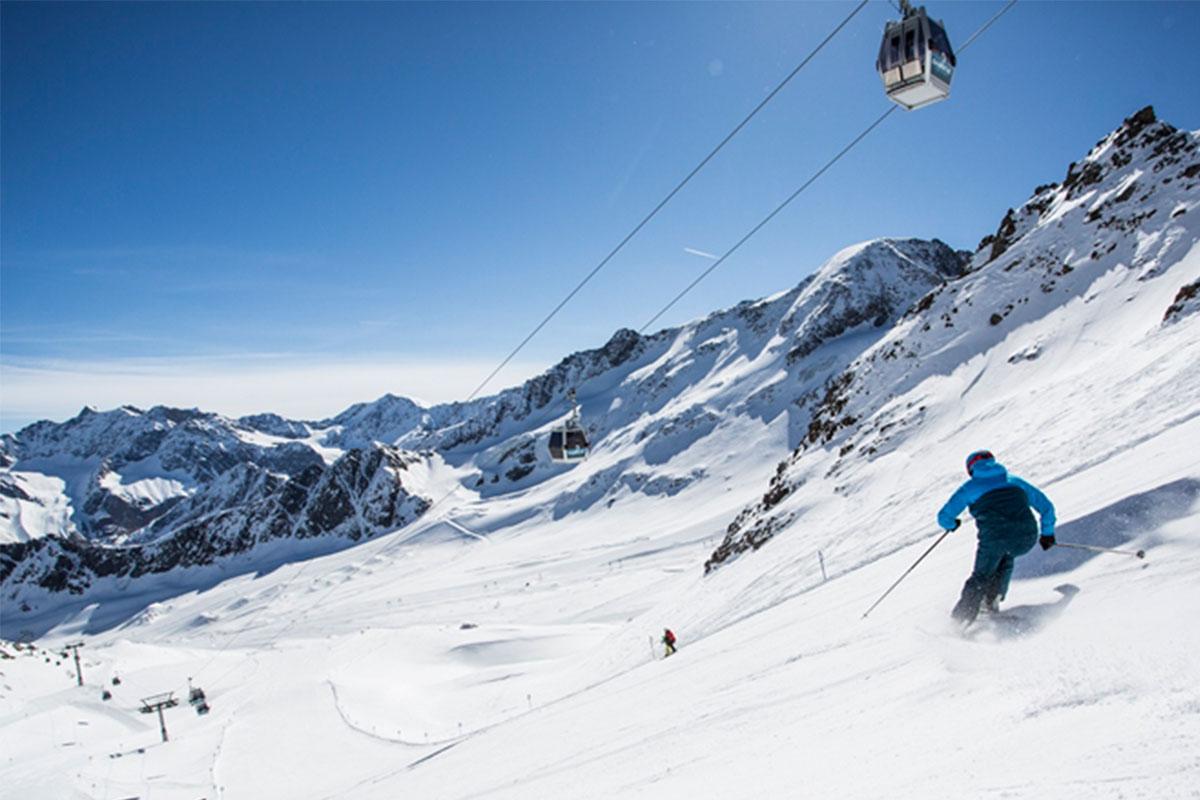 Lift und Piste Kaunertaler Gletscher