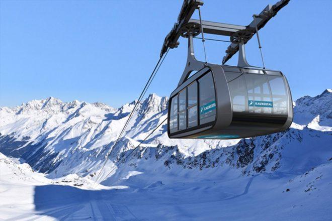 Falginjochbahn auf dem Kaunertaler Gletscher