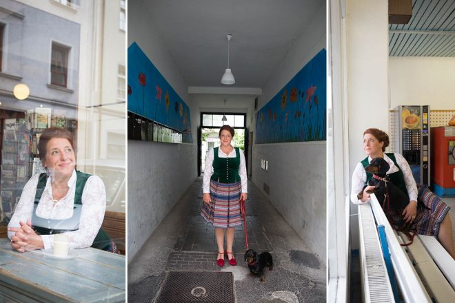 """Der Tradition verbunden und offen für Veränderung – für die Rolle der Mama Bavaria muss sich Luise Kinseher nur wenig verstellen. """"Meine Heimat ist bunt, und ich bin trotzdem bayerisch."""" Luise Kinseher in """"ihrem"""" Münchner Westviertel."""