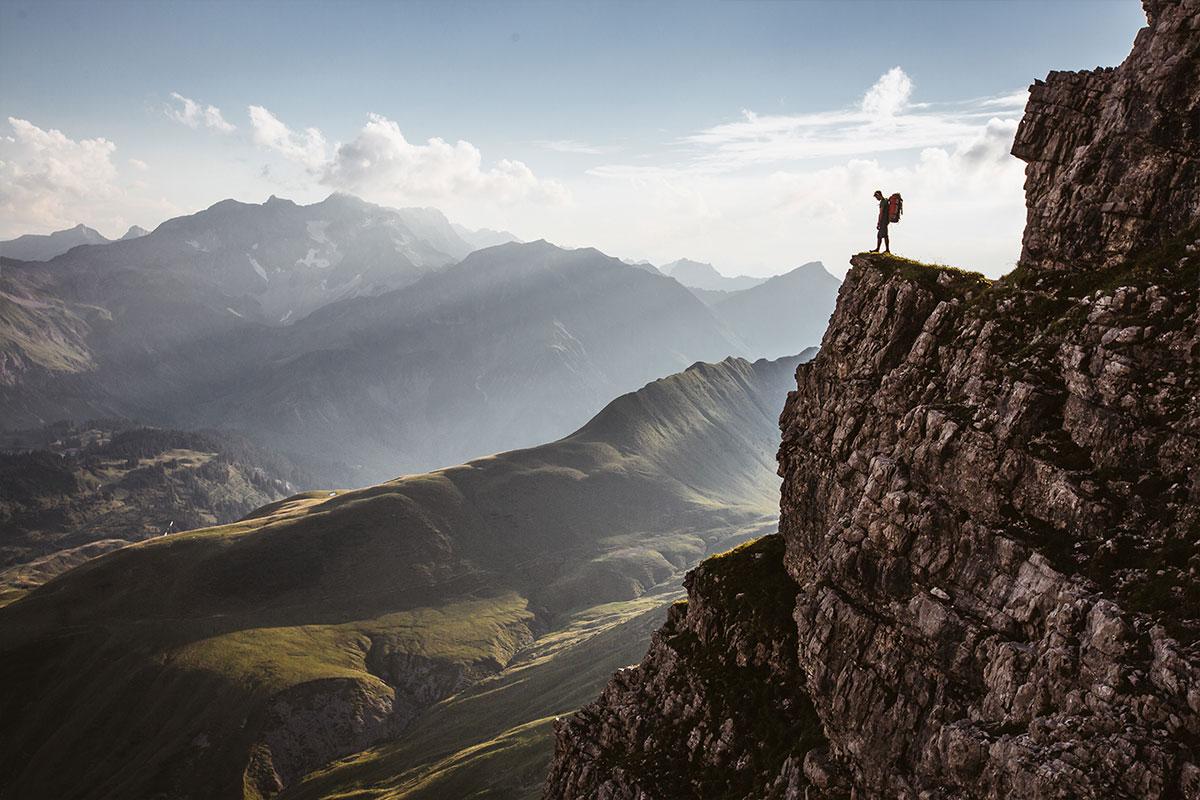 Ein sensationellen Ausblick über die Bergwelt