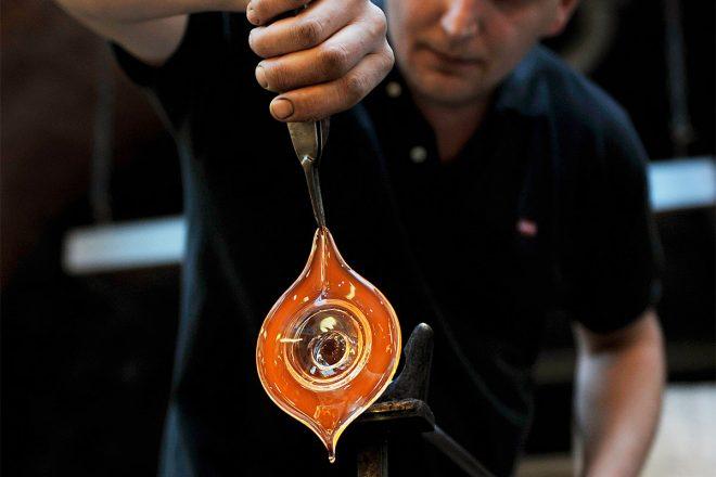 Schauglasbläserei von Kisslinger Kristallglas
