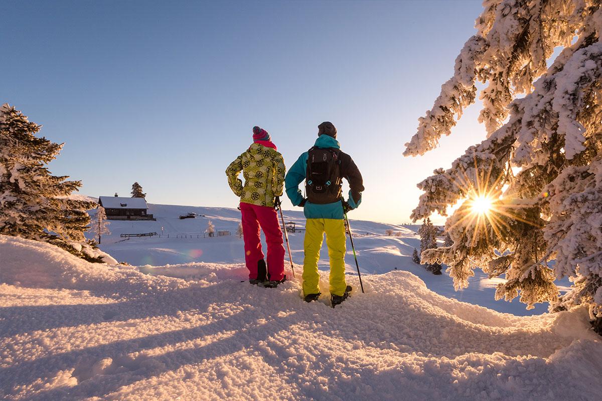 Abendliche Skitour Naturpark Dobratsch