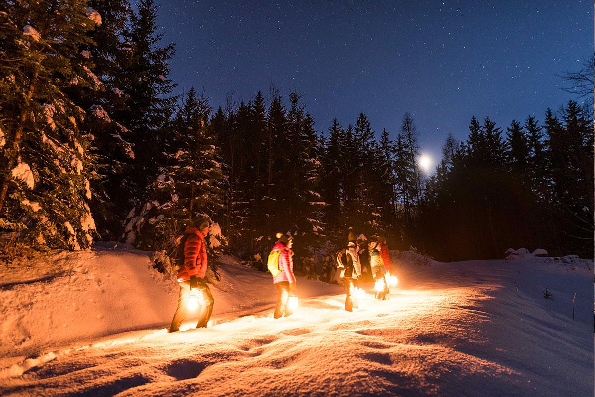 Nachtwanderung unplugged am Fuße des Dobratsch mit einer Wanderführerin