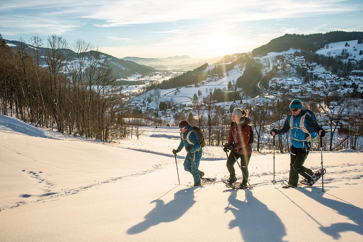 Oberstaufen Schneeschuhwanderung